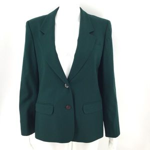 PENDLETON Blazer Green Forest Solid S M Wool Lined